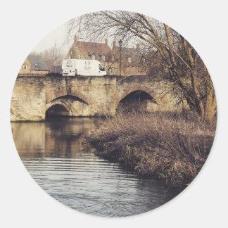 puente pegatinas redondas