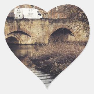 puente pegatina de corazón personalizadas