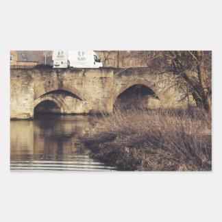 puente rectangular pegatina