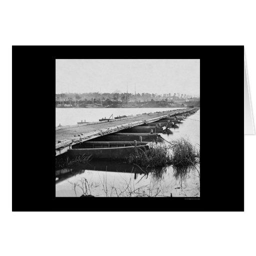 Puente pontón sobre James River, VA 1864 Felicitaciones