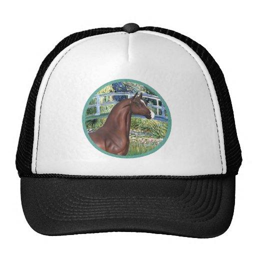 Puente por el caballo del árabe de Monet - de Brow Gorro