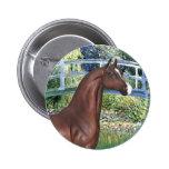 Puente por el caballo del árabe de Monet - de Brow Pins
