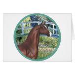 Puente por el caballo del árabe de Monet - de Brow Tarjeton