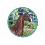 Puente por el caballo del árabe de Monet - de Brow Postales