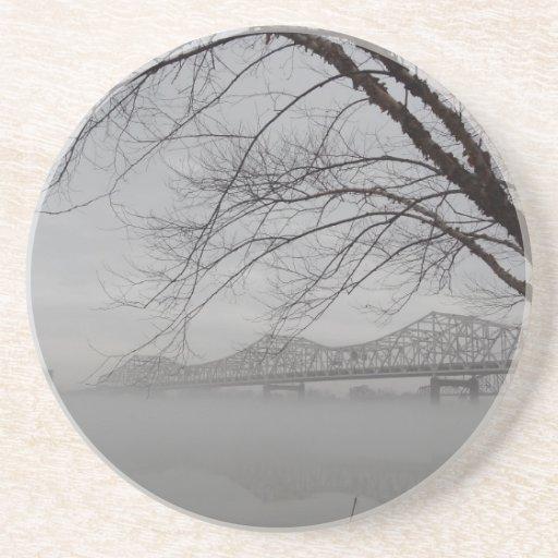 Puente que atraviesa el río Ohio Posavasos Personalizados