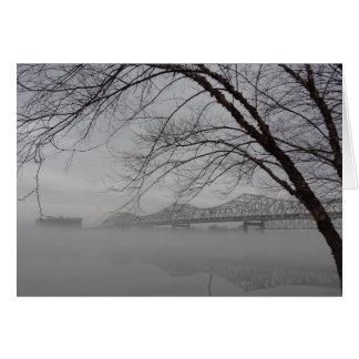 Puente que atraviesa el río Ohio Tarjeta De Felicitación