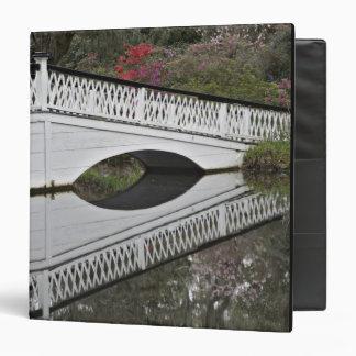 Puente que refleja en la charca, magnolia