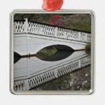 Puente que refleja en la charca, magnolia adorno para reyes