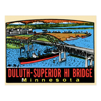 Puente retro del manganeso de Duluth de la Tarjetas Postales
