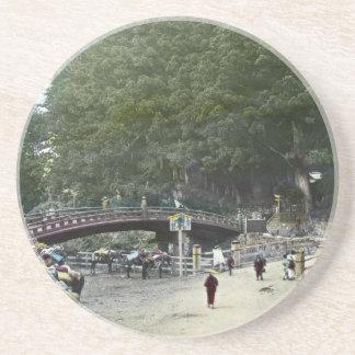 Puente rojo japonés Tokio del vintage Posavasos Para Bebidas