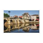 Puente romano en Chaves, Portugal Impresión De Lienzo