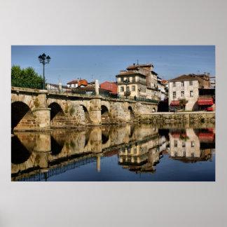 Puente romano en Chaves, Portugal Póster
