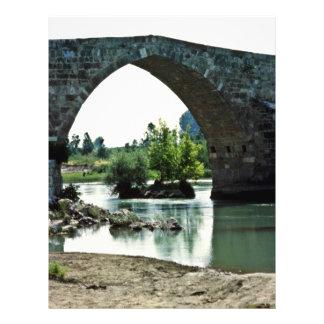 Puente romano, río de Goksu, Silifke Tarjetas Publicitarias