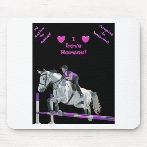 Puente rosado y púrpura del caballo tapete de ratones