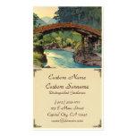 Puente sagrado en arte del hanga de Nikko Hiroshi  Tarjetas Personales