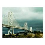 Puente San Francisco de la bahía de Oakland Tarjeta Postal