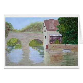 Puente sobre el agua tarjeta pequeña