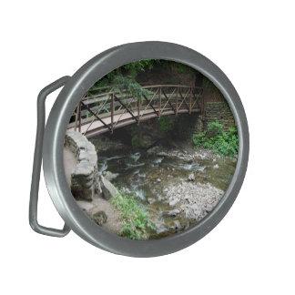 Puente sobre el primer de Wolf Creek Hebilla De Cinturon Oval