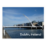 Puente sobre el río de Dublín Tarjeta Postal