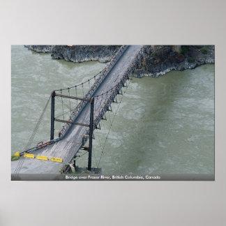 Puente sobre el río Fraser, Columbia Británica, Ca Impresiones