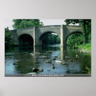 Puente sobre el río Goyt Baslow Reino Unido Impresiones