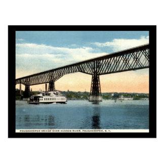 Puente sobre el río Hudson, vintage de Postales