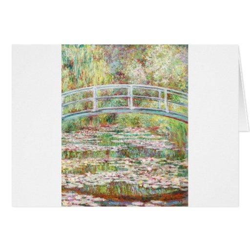 Puente sobre la charca de los lirios de agua - Cla Felicitacion