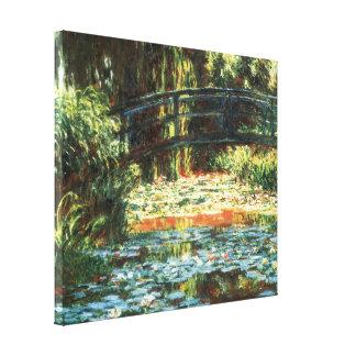 Puente sobre la charca de Waterlily de Claude Lona Envuelta Para Galerías
