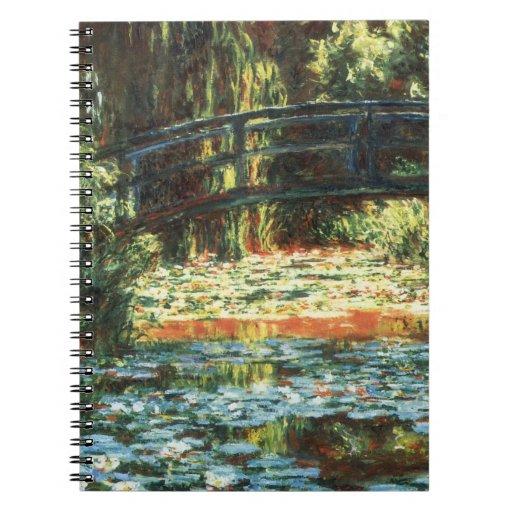 Puente sobre la charca del lirio de agua de Claude Libro De Apuntes