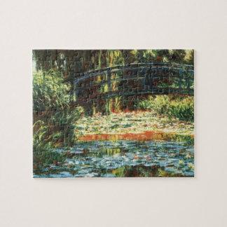 Puente sobre la charca del lirio de agua de Claude Rompecabezas Con Fotos