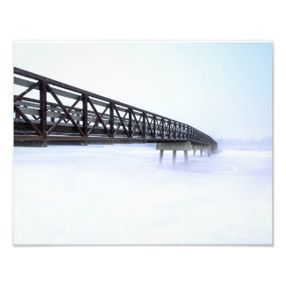 Puente sobre la impresión congelada de la foto del fotografías