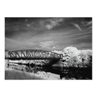 Puente sobre la invitación del desgaste del río invitación 12,7 x 17,8 cm