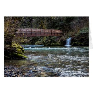 Puente sobre tarjeta de la cala de Hackleman