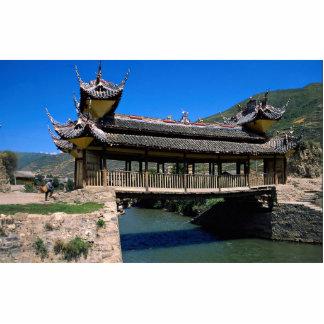 Puente, Songpan, provincia de Sichuan, China Esculturas Fotograficas