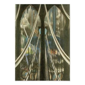 """Puente, Stella, arquitectura de New York City del Invitación 5"""" X 7"""""""