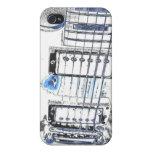 puente strings.jpg del negro azul de la imagen del iPhone 4 coberturas