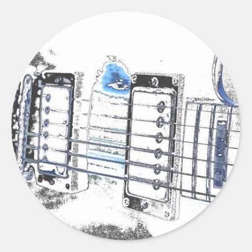 puente strings.jpg del negro azul de la imagen del etiqueta redonda