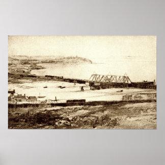 Puente trasero GTR de la ensenada de Portland de J Póster