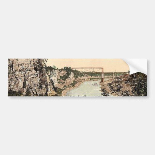 Puente tubular, Chepstow, obra clásica Photochr de Etiqueta De Parachoque