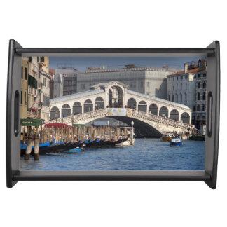 Puente Venecia Italia de Rialto Bandejas
