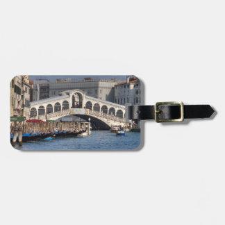 Puente Venecia Italia de Rialto Etiqueta De Equipaje