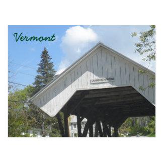 Puente Vermont de Chamberlin Tarjetas Postales