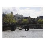 Puente viejo de Amsterdam Tarjeta Postal