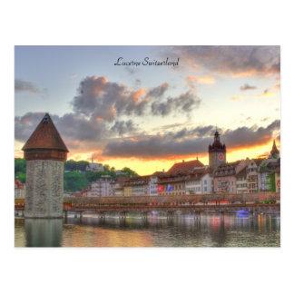 Puente viejo de la capilla de la ciudad de Lucerna