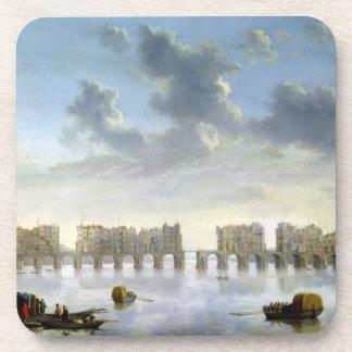 Puente viejo de Londres (aceite), c.1630 Posavasos