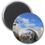 Puente viejo en Mostar Imán Redondo 5 Cm