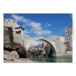 Puente viejo en Mostar Tarjeta De Felicitación