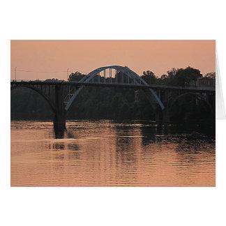 Puente viejo tarjeta de felicitación