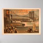 "Puente ""virutas para rellenar "" de New York City B Posters"