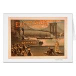 """Puente """"virutas para rellenar """" de New York City B Tarjeta De Felicitación"""